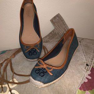 Coach Shoes - Coach Darcelle Denim Flat Espadrilles